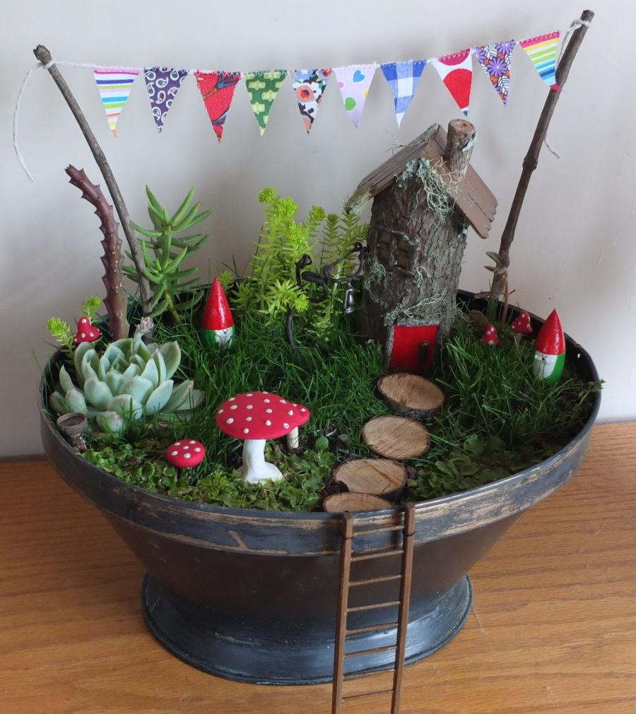 Fairy garden indoors