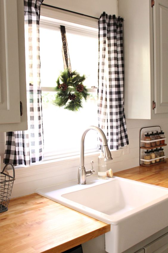 Kitchen windows curtains elegant & chic!!