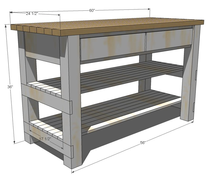 diy kitchen island plan ideas