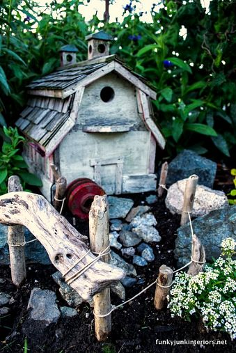Farmhouse stlye for fairy garden