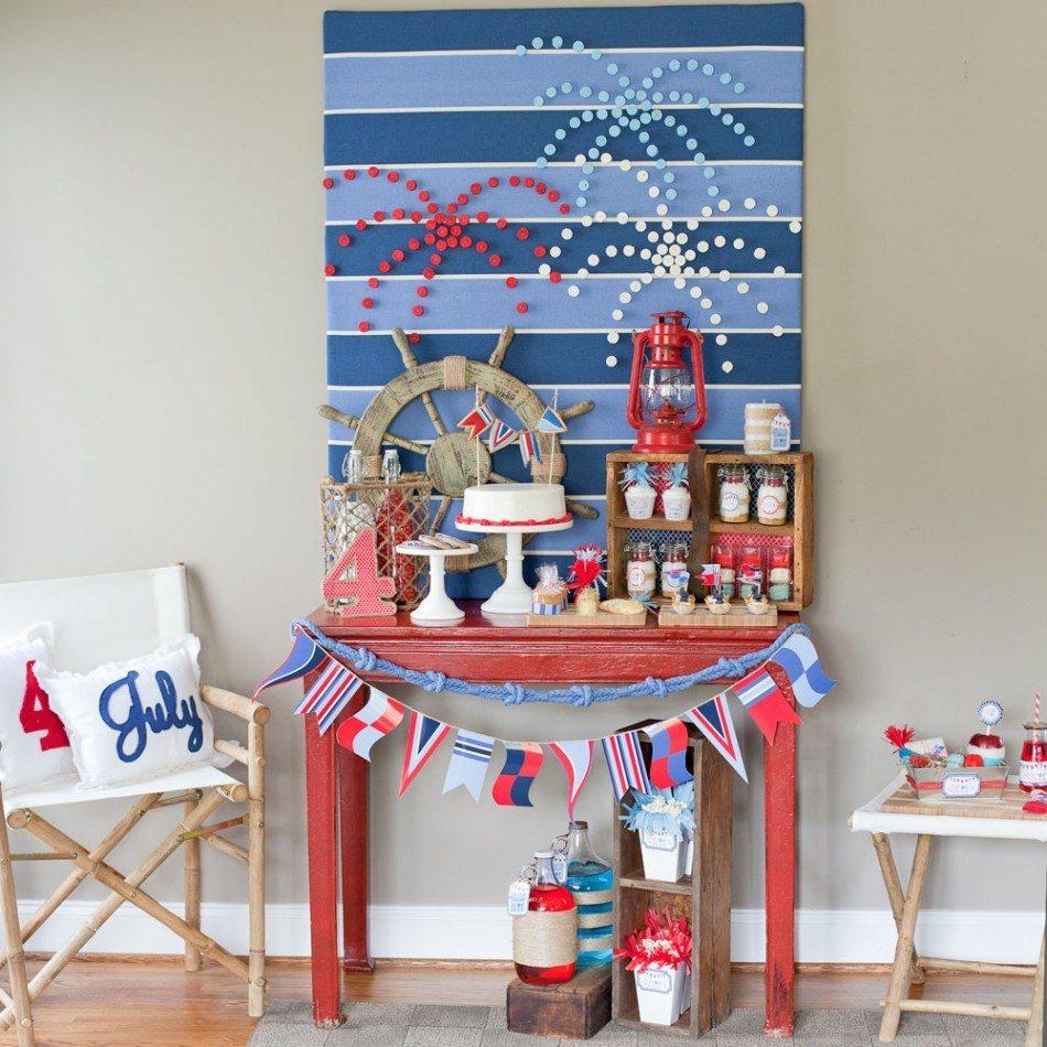 Nautical decorations party celebration