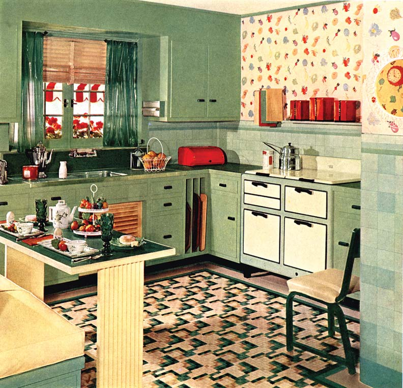 stove-history-1950s retro kitchen