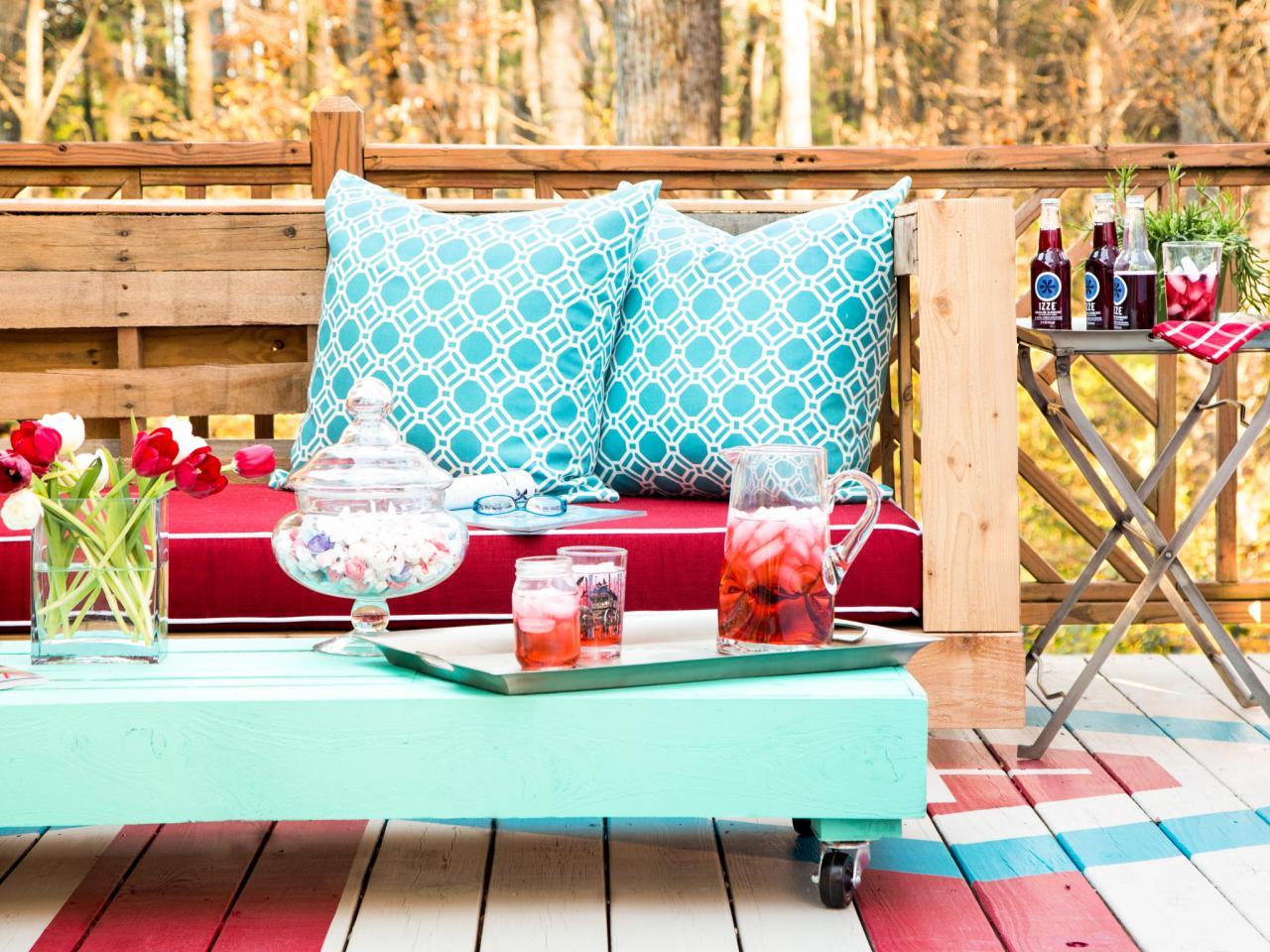 Colorful DIY patio furniture