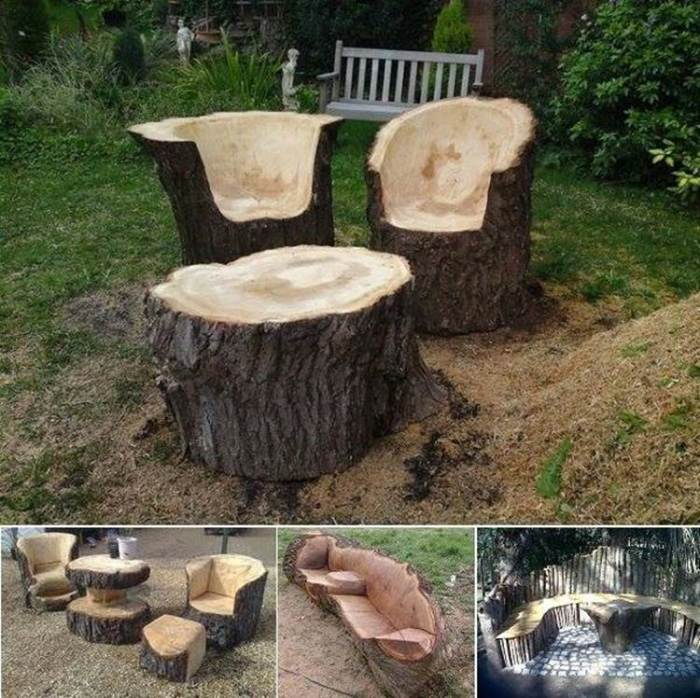 patio furniture stunning tree trunk
