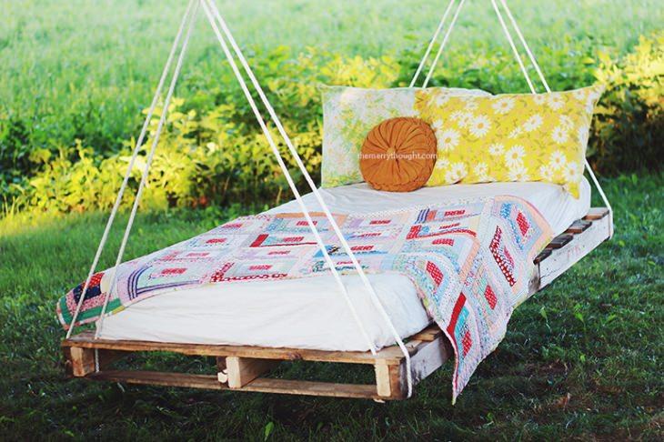 Patio outdoor furniture - wooden swing