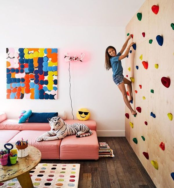kids climbing wall - girly climbing wall