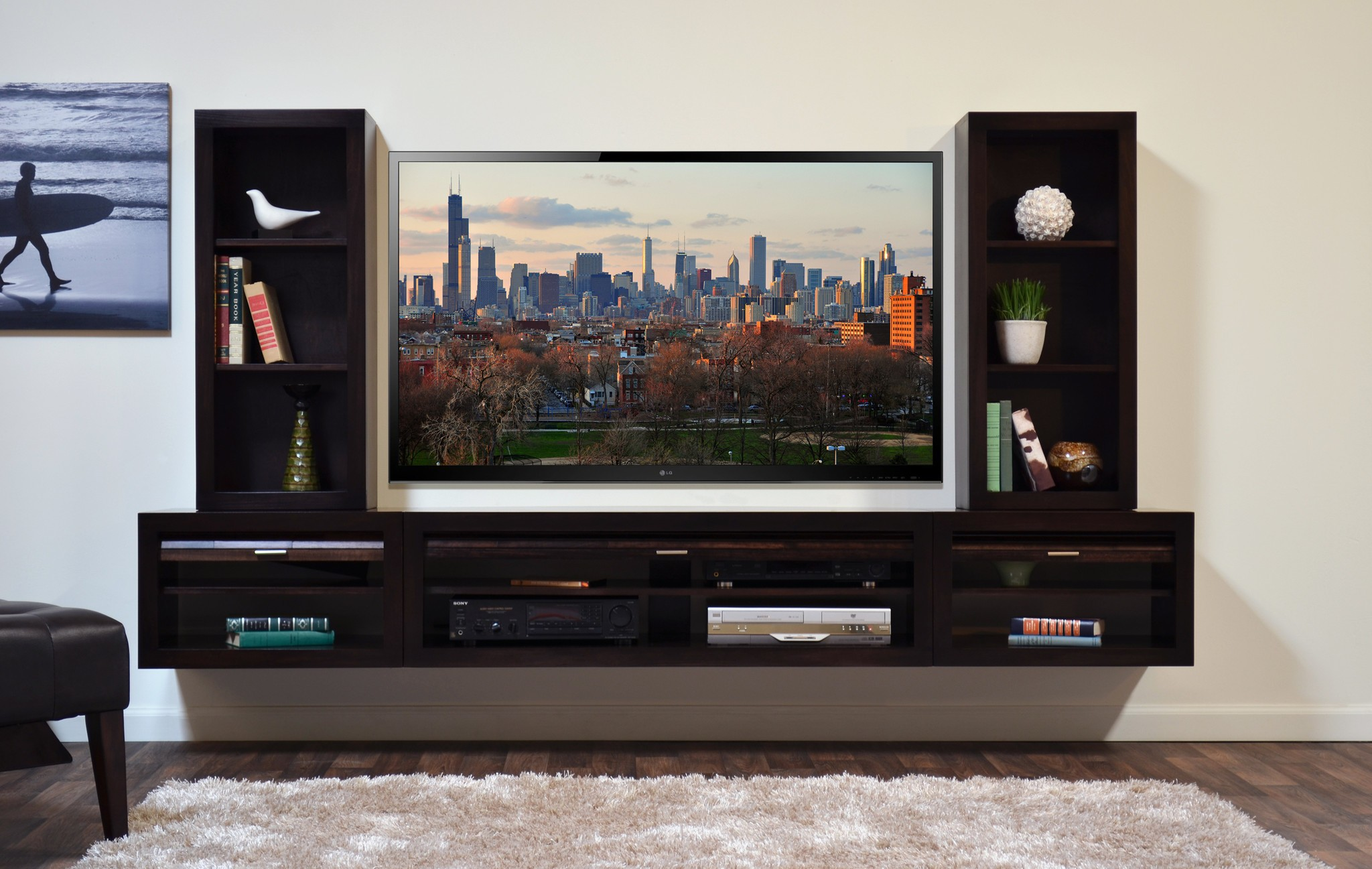 dark cool tv stands