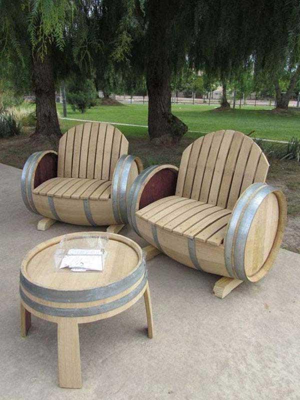 diy patio furniture - backyard