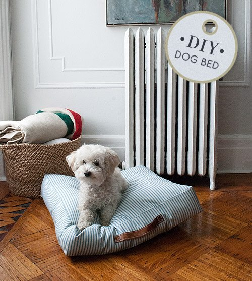 diy dog bed - memory foam bed