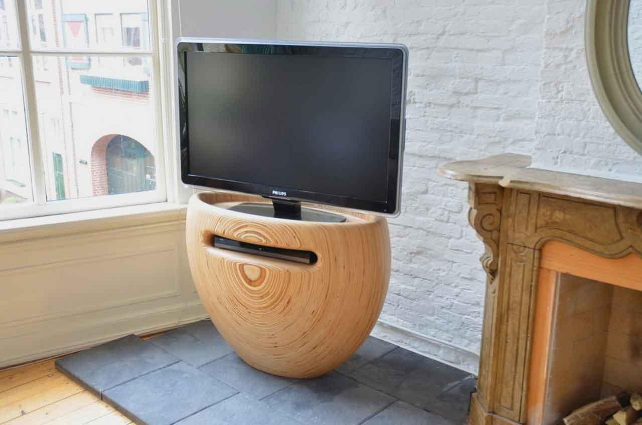 round cool tv stands
