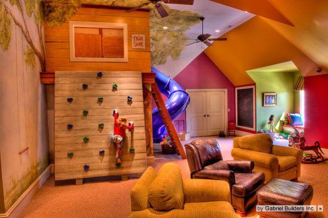 fun room kids climbing wall