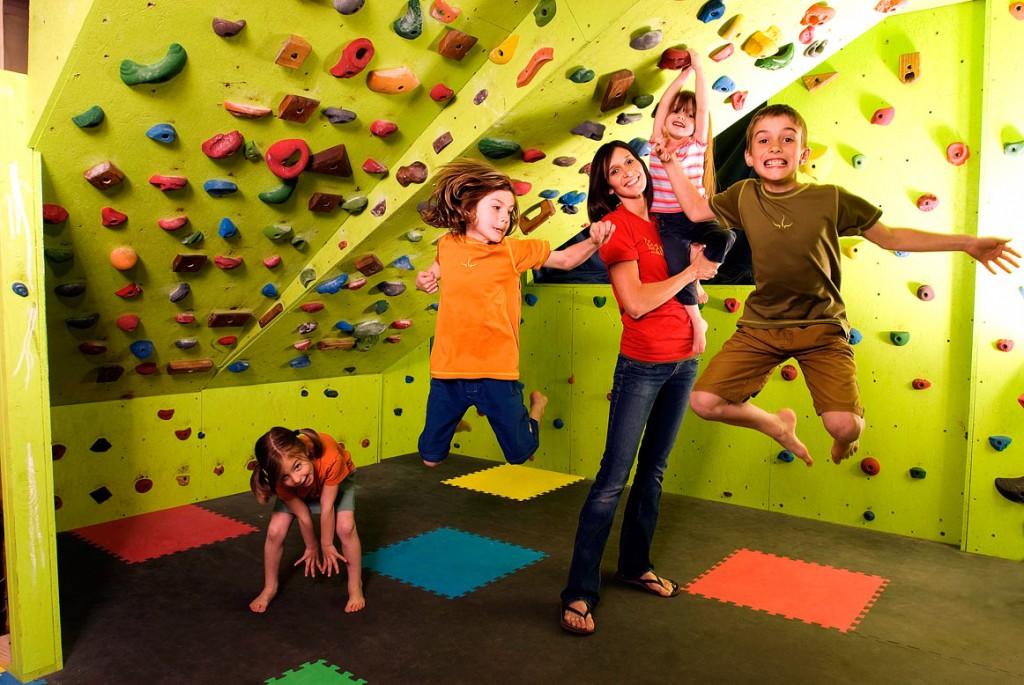 kids climbing indoor walls
