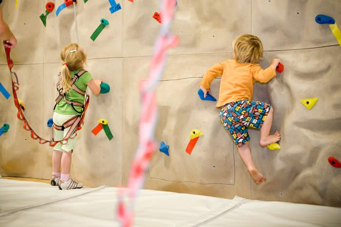 indoor playtime kids climbing wall