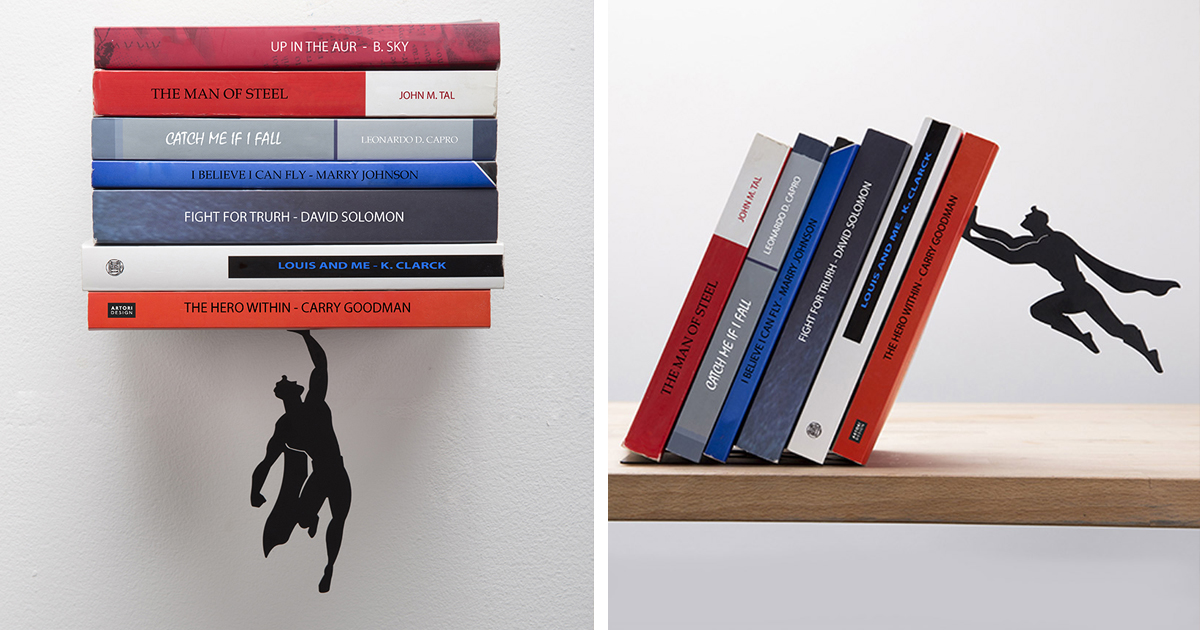 Creative Superhero Bookends