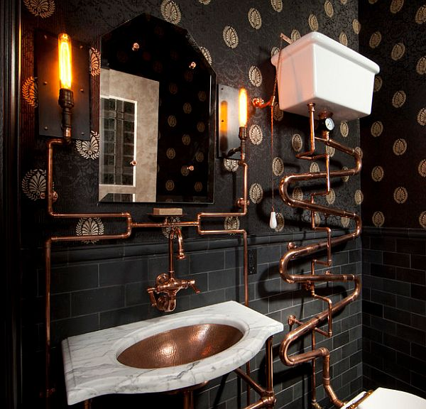 Steampunk decor ideas for bathroom