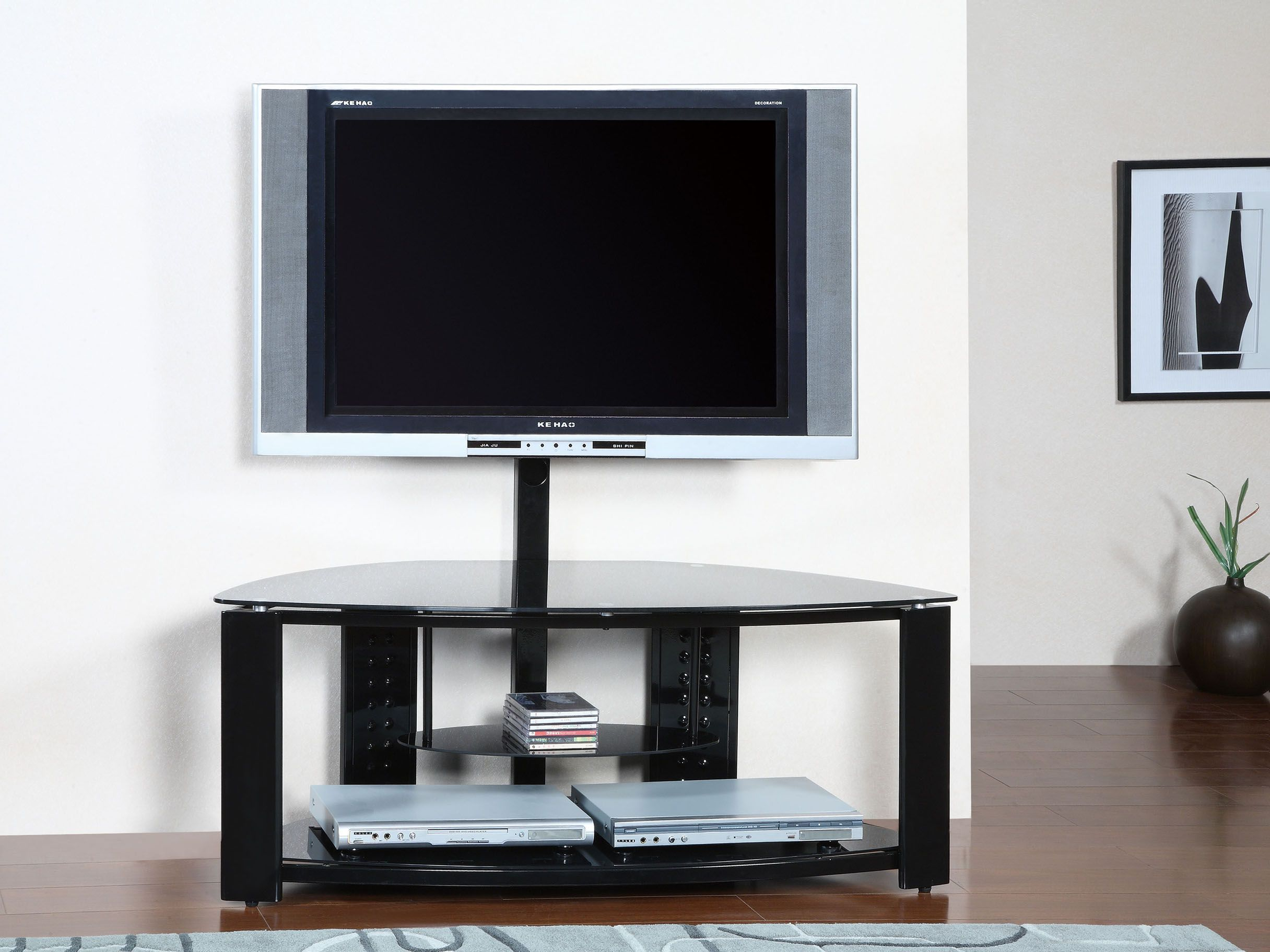 White cool tv stand