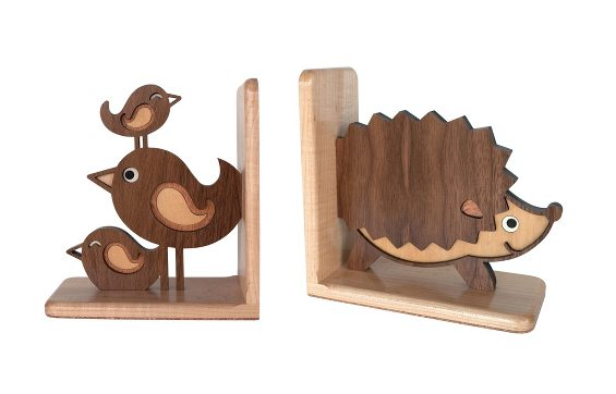 childrens wooden bookend
