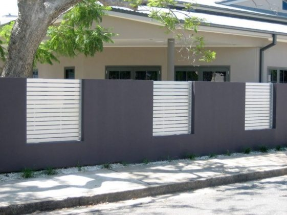 chic privacy fence design with view from inside