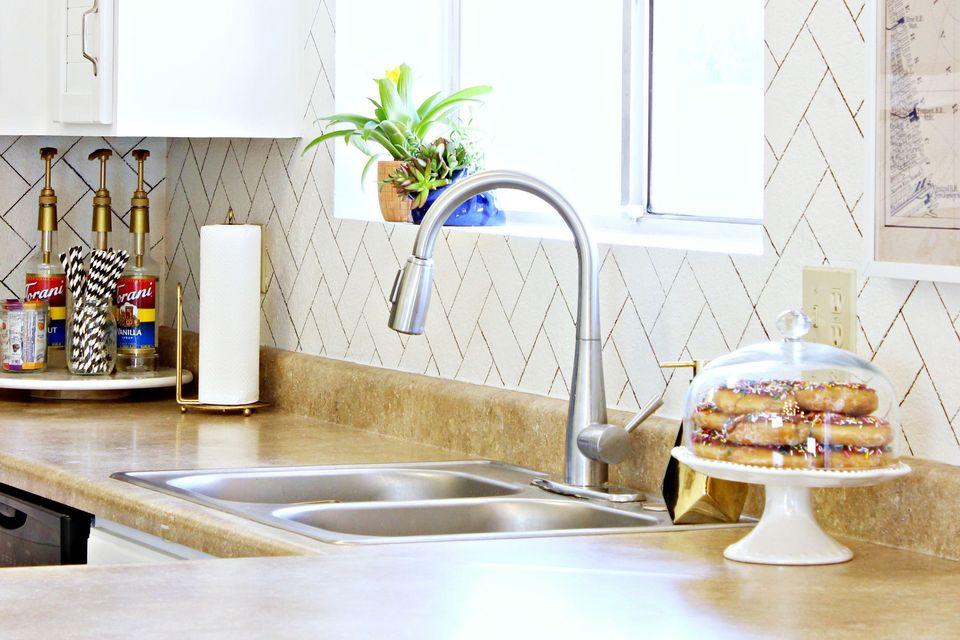 sharpie diy kitchen backsplash ideas