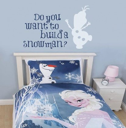 frozen inspired cool bedrooms from movies