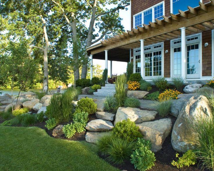 rocks landscaping front yard ideas
