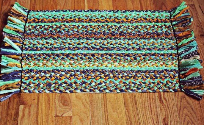 square braided diy rugs