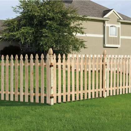 Cool wooden picket fence
