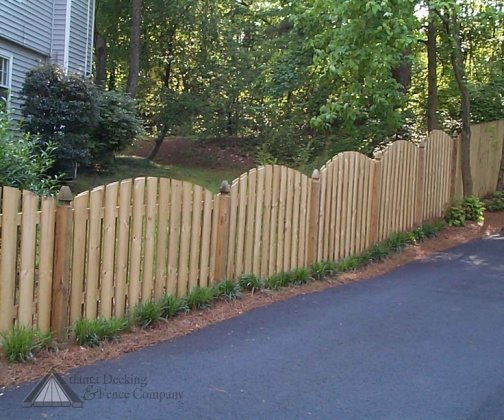 picket fence garden wooden style