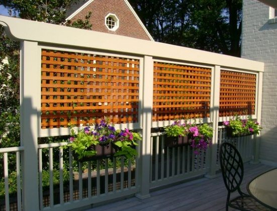 decorative lattice fence