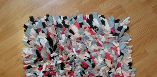 diy shaggy rag rug