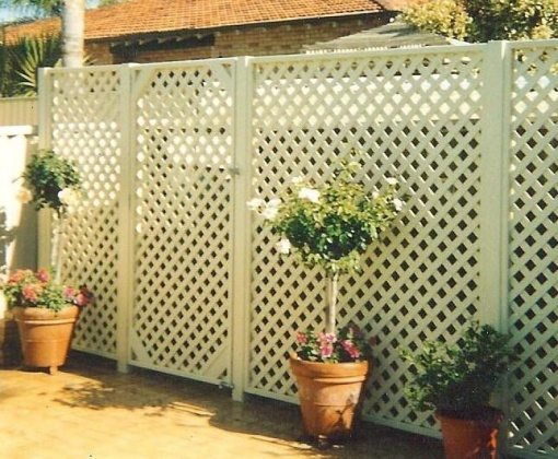 lattice fence panels & fence designs