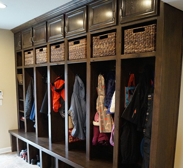 lovely mudroom lockers