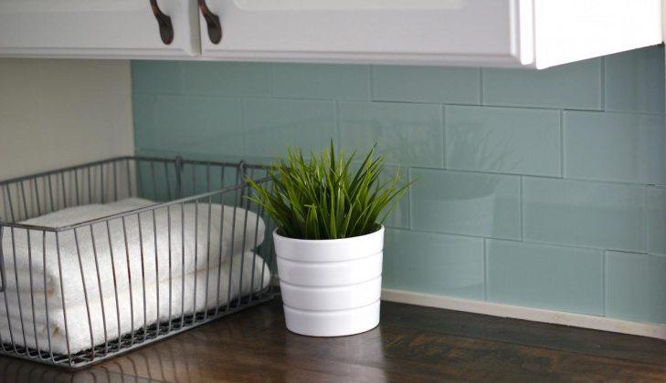 painted glass diy kitchen backsplash