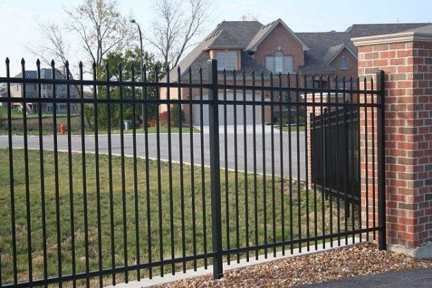iron security fence designs