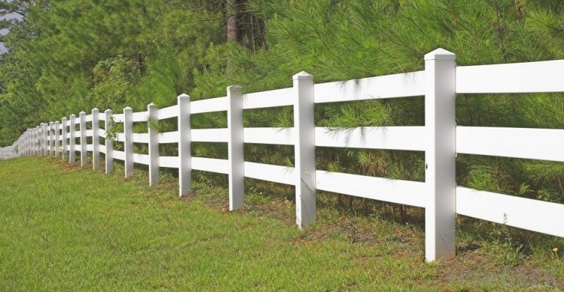 white rail fence designs