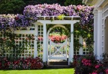 white wooden lattice fence designs