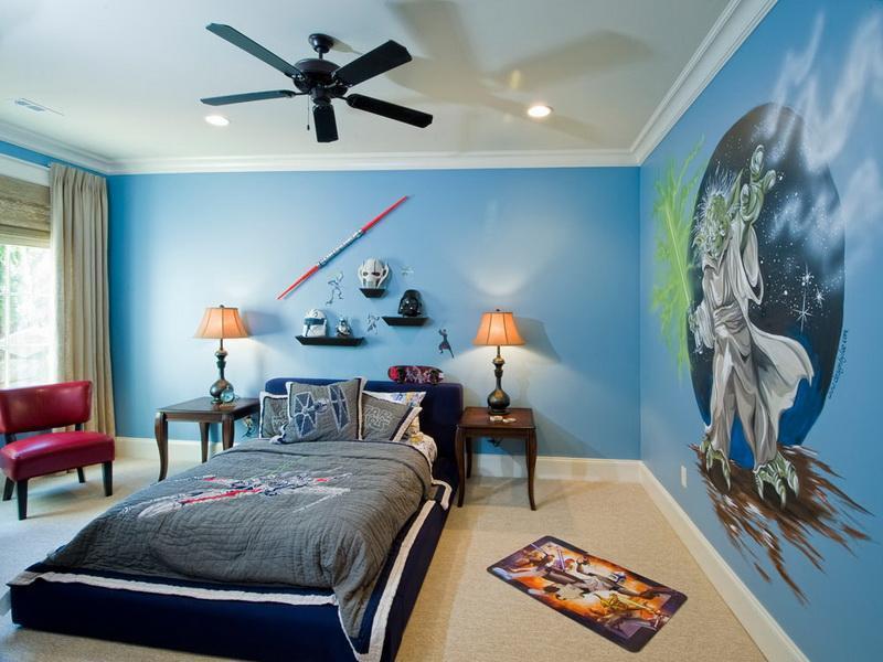 blue star wars room decor
