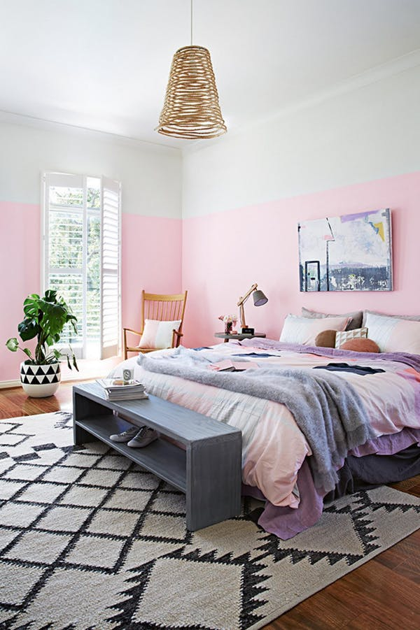 bedroom rugs size and placement