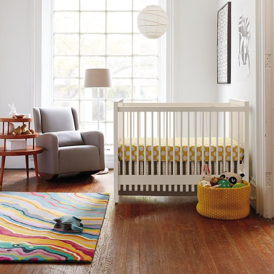 colorful rainbow bedroom rug for kids