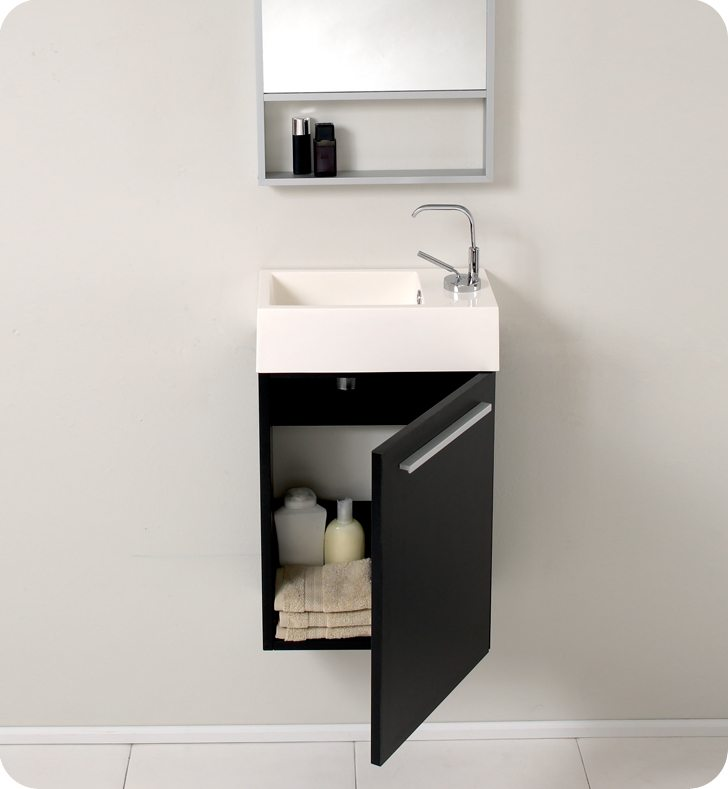 Small bathroom wall mounted storage cabinet
