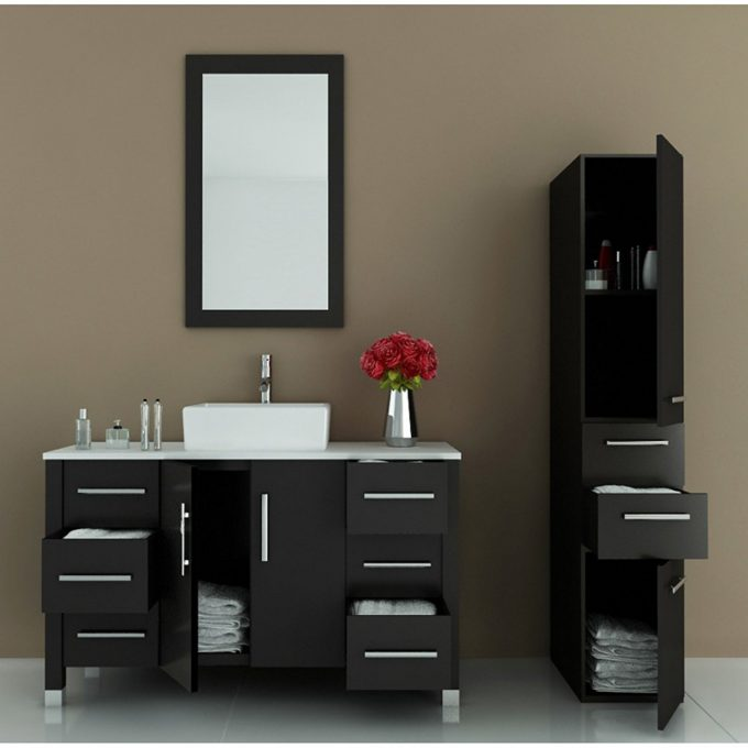 bathroom-astonishing-modern-black-bathroom-vanity-home-design-ideas-with-brown-wall-design-also-grey-wooden-cabinet-for-bathroom-ideas-attractive-black-bathroom-vanity-for-modern-680x680