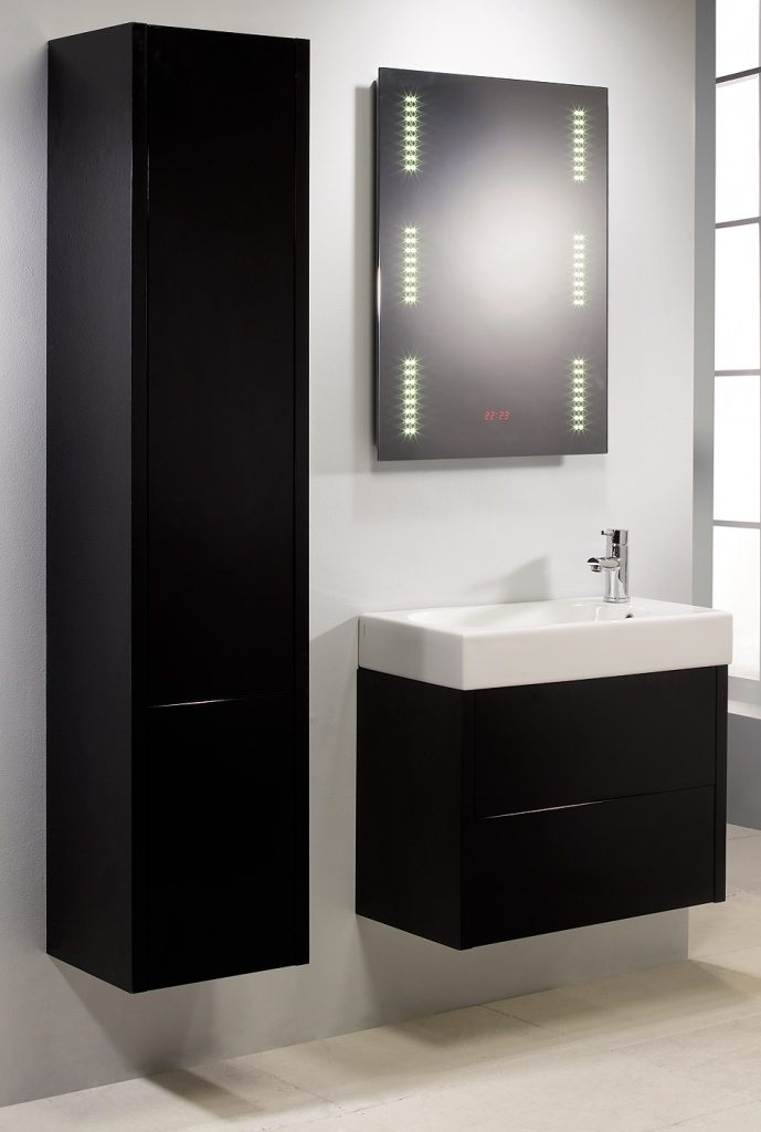 contemporary black bathroom wall storage cabinets