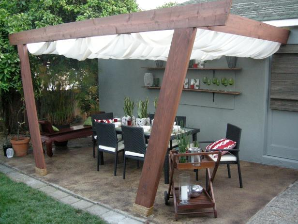 easy ideas for covered patio