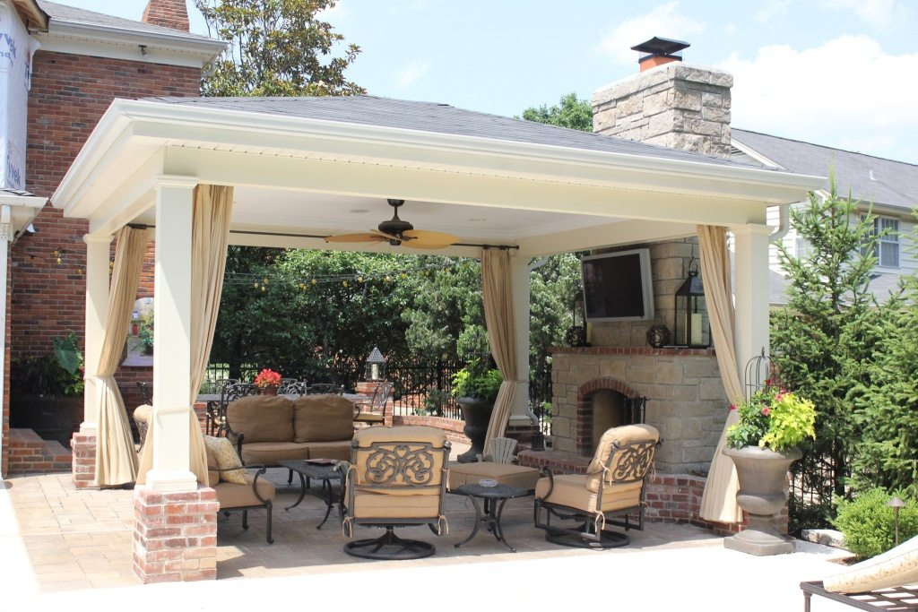 a nice covered patio