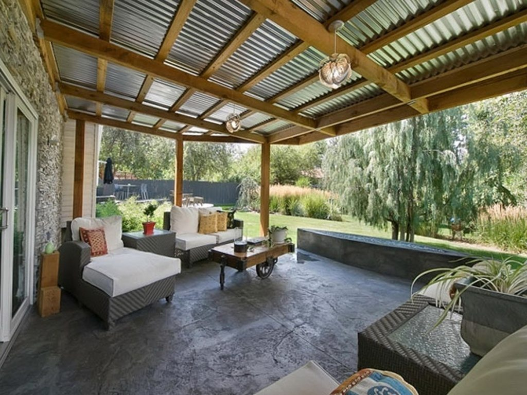 the amazing covered patio