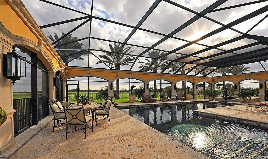 a great covered patio