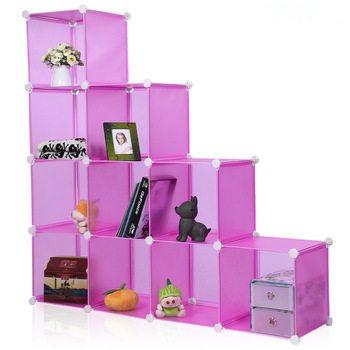 colored cube bookshelf