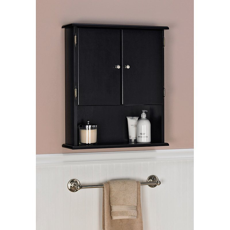 Black vanity small bathroom wall storage cabinets
