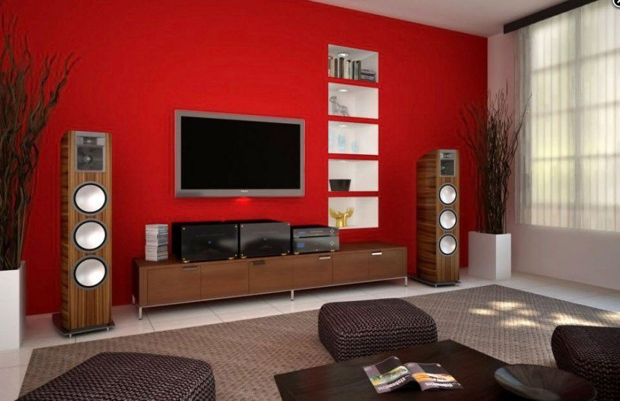 living room design ideas with T.V
