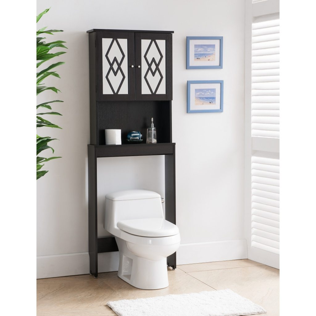 small black bathroom wall storage cabinets